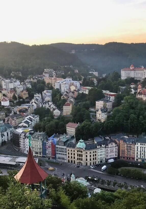 Overview of Karlovy Vary, a famous spa town in the Czech Republic