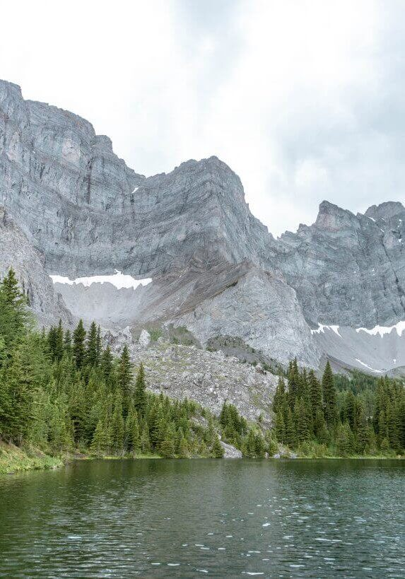 Views of a lake on our hike in Kananaskis.