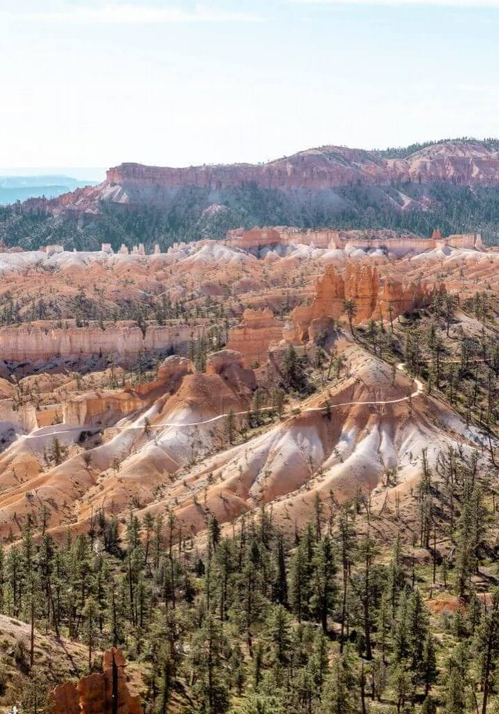 Overlook of Fairyland Loop Trail in Bryce Canyon